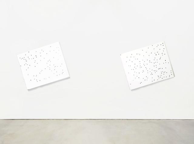 , 'SSSHHH (Almost White) white on white #1, #2,' 2018, Aura