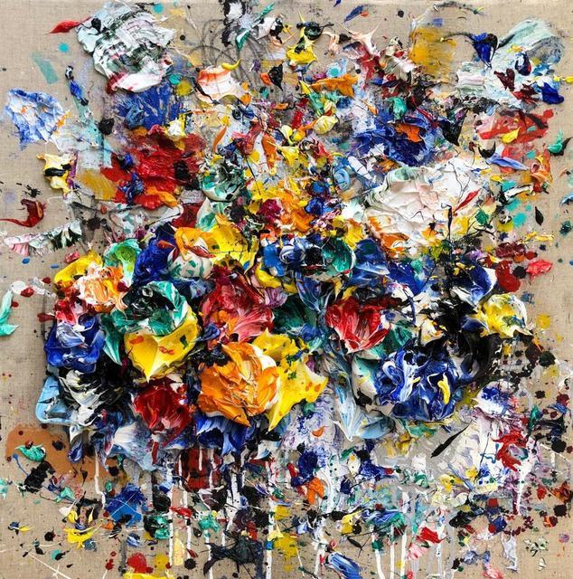 , 'Ocher Blue,' 2018, Aurora Vigil-Escalera Art Gallery