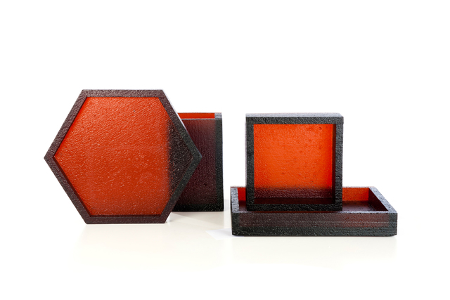 , ''Blocks' red 208,' 2012, Victor Hunt Designart Dealer