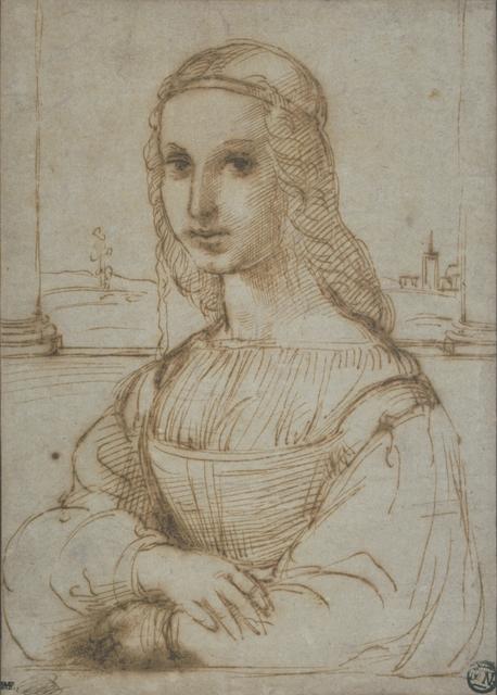 Raphael, 'Femme en buste, de trois quarts vers la gauche, les bras croisés (Bust of a woman, in three-quarters profile facing left, with folded arms)', Musée du Louvre
