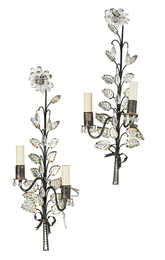 Pair Of Bagues Rock Crystal Sconces