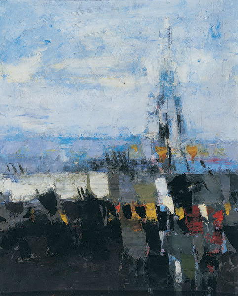 , 'Vertical Landscape with Eiffel Tower Oct `53,' , Osborne Samuel