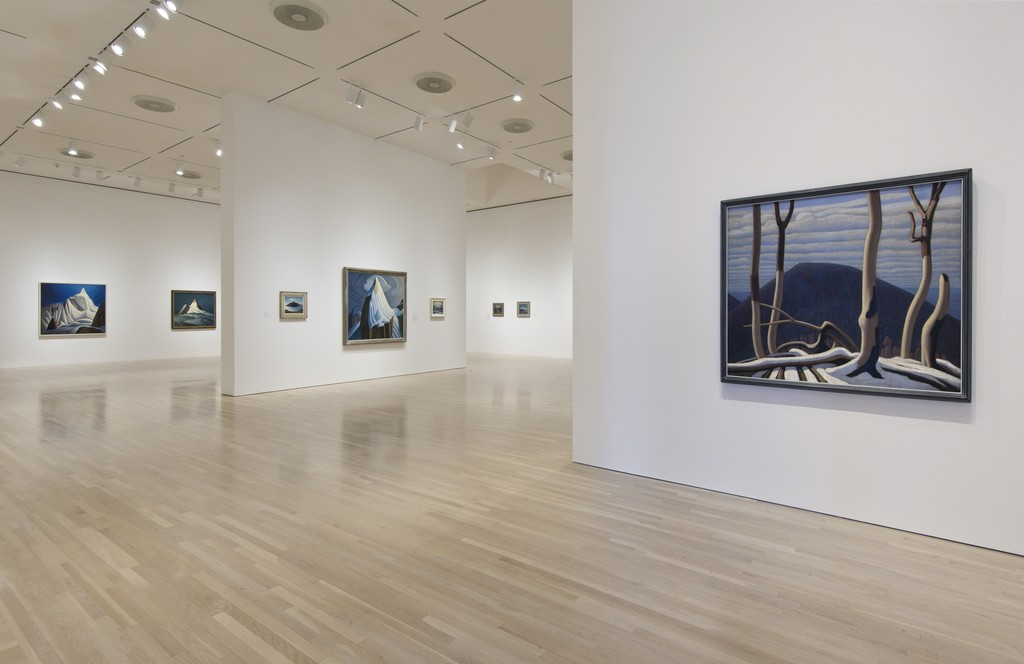 Caption: Installation view of The Idea of North: The Paintings of Lawren Harris. October 11, 2015–January 24, 2016. Hammer Museum, Los Angeles. Photo: Brian Forrest.