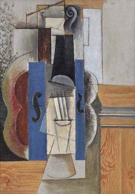 , 'Un violon accroché au mur (Le violon),' 1913, Guggenheim Museum Bilbao
