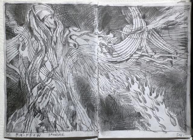 , 'Angels: Journal Sketch Pg. 205, 206,' 2015, ANNO DOMINI