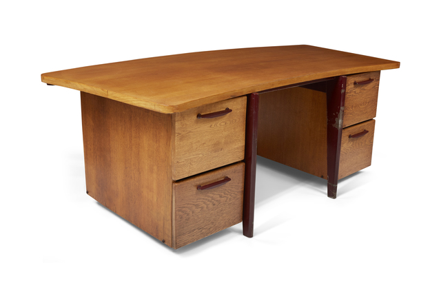 , 'Curved standard desk,' 1943, DeLorenzo Gallery