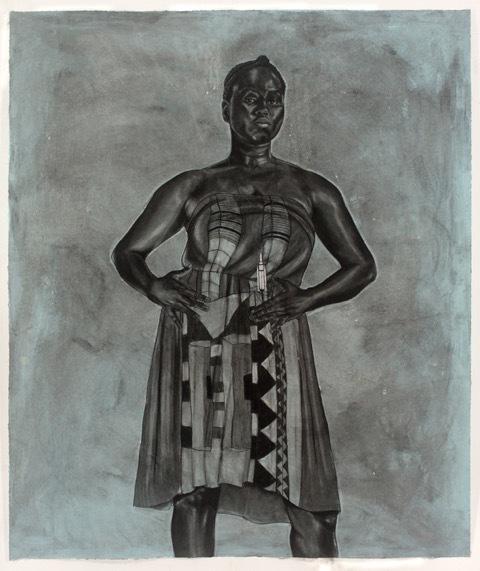 , 'Blue Black Afro Majestic ,' 2012, Art Village Gallery