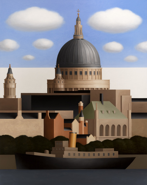 , 'St Paul's Cathedral, Blue Sky, Clouds, from the Thames,' 2017, Flowers