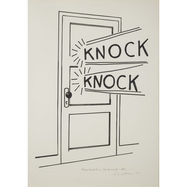 Roy Lichtenstein, 'Knock, Knock Poster', 1975, Freeman's