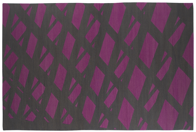 , 'Composition in Fuchsia Charcoal,' 2015, Maddox Arts