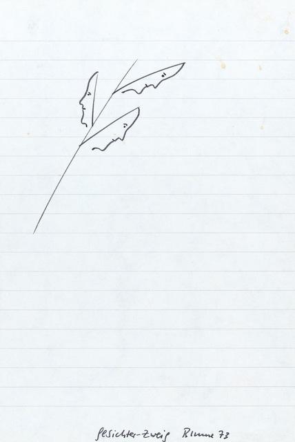 , 'Gesichter-Zweig,' 1973, Riva di Morcote Fine Arts