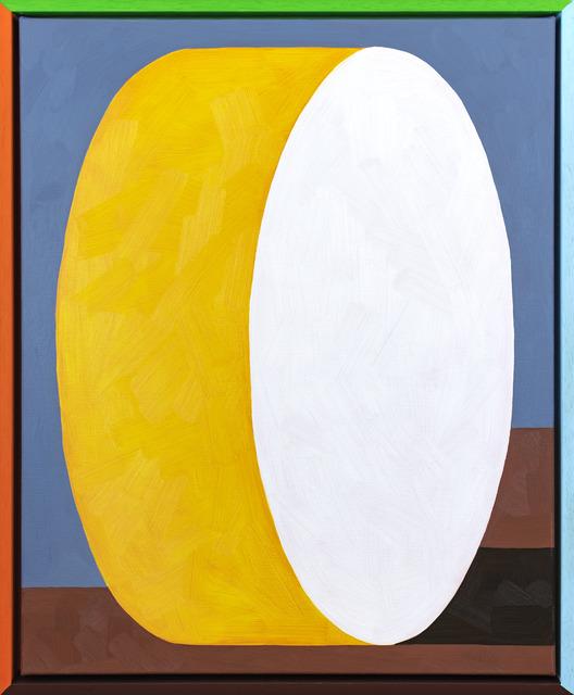 Jordy van den Nieuwendijk, 'Tall Round Bale', 2018, Painting, Oil on canvas, painted wooden frame, PUBLIC Gallery