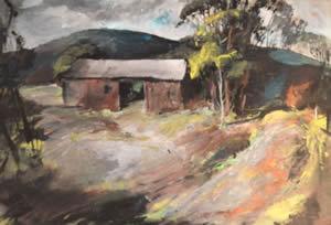 Carl Frederick Gaertner, 'Barn Landscape', ca. 1940, WOLFS