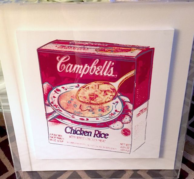 Andy Warhol, 'Campbell's Soup Box: Chicken Rice by Andy Warhol ', 1986, Print, Acrylic & silkscreen ink on canvas, Revolver Gallery