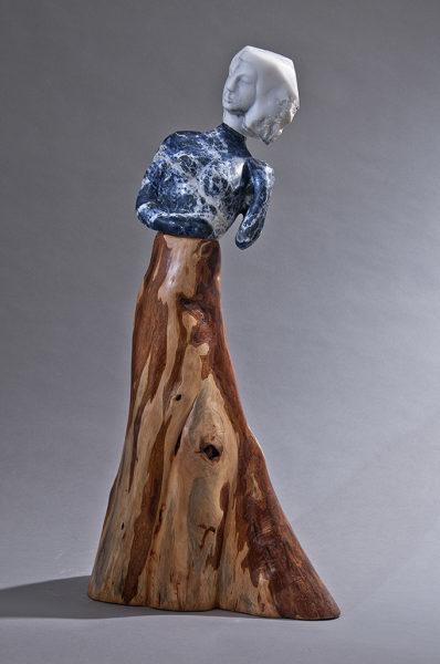 Jane Jaskevich, 'Bree', 2018, Sculpture, Sodalite, Marble, Cypress, Shain Gallery