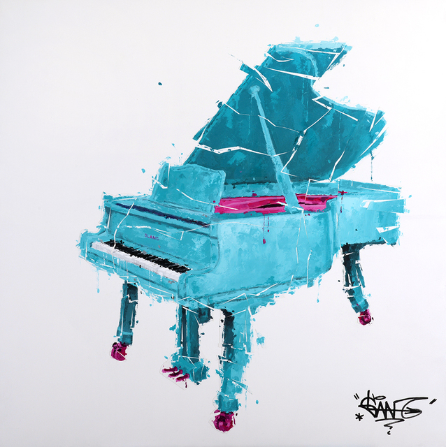 , 'Piano Turquoise Et Rose,' 2018, Galerie Art Jingle