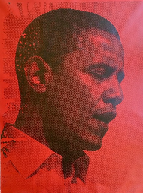 Russell Young, 'Red Obama', 2008, MICHALI GALLERY
