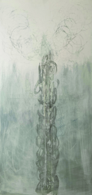 Masumi Sakagami, 'Mirage', 2019, Painting, Organic Pigments Sumi Ink on Canvas, Walter Wickiser Gallery