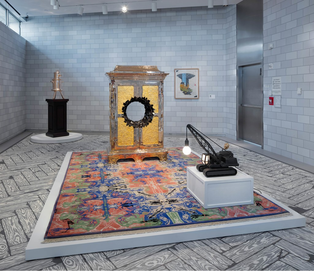 Installation view of 'Studio Job MAD HOUSE', 2016.  Photo by Butcher Walsh. Courtesy of the Museum of Arts and Design.