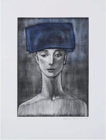 Katsura Funakoshi, 'Blue Coif', 2017, Aki Gallery