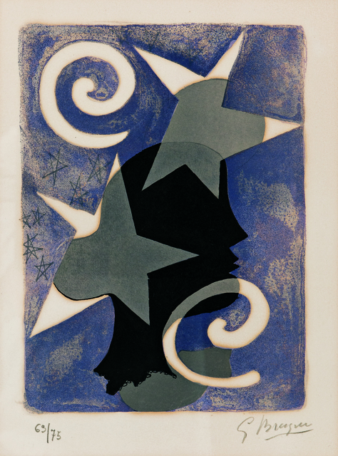 Georges Braque, 'Profil, page 10 from Lettera Amorosa', 1958-63, Skinner