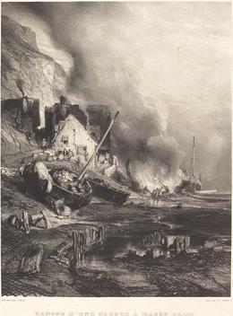 Eugène Isabey, 'Radoub d'une barque à Marée Basse', 1833, National Gallery of Art, Washington, D.C.