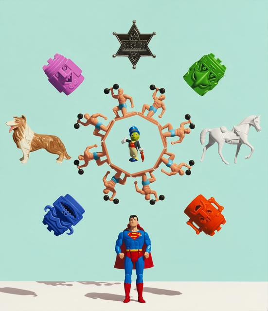 , 'Superman Mandala (Might & Main),' 2018, Dolby Chadwick Gallery