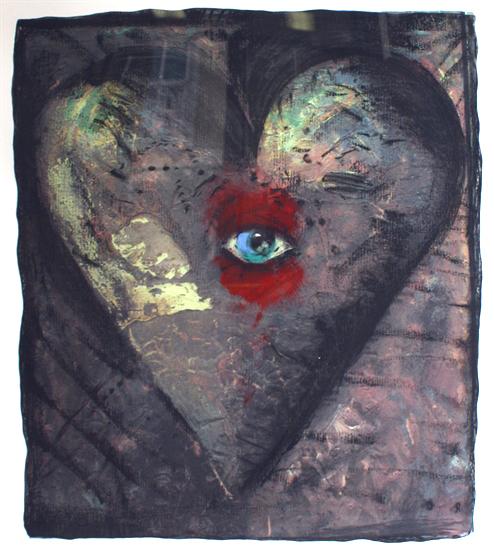 , 'Hand-Colored Viennese Heart V,' 1990, Posner Fine Art