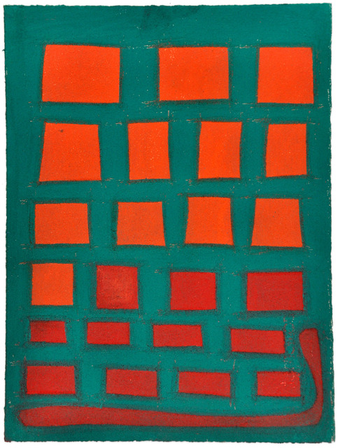 , 'Untitled (red shapes on green),' 2011, Fleisher/Ollman