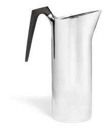Sterling silver martini pitcher with carved horn handle.