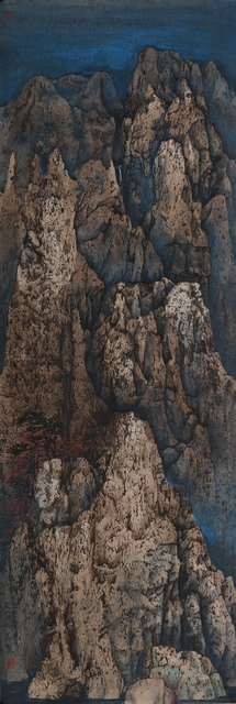 , 'Flaming Maple on the Cliff,' 2017, Fu Qiumeng Fine Art