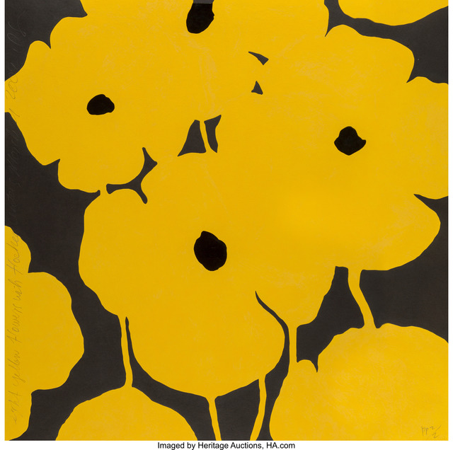 Donald Sultan, 'Eight Yellow Flowers with flocked centers', 2002, Heritage Auctions