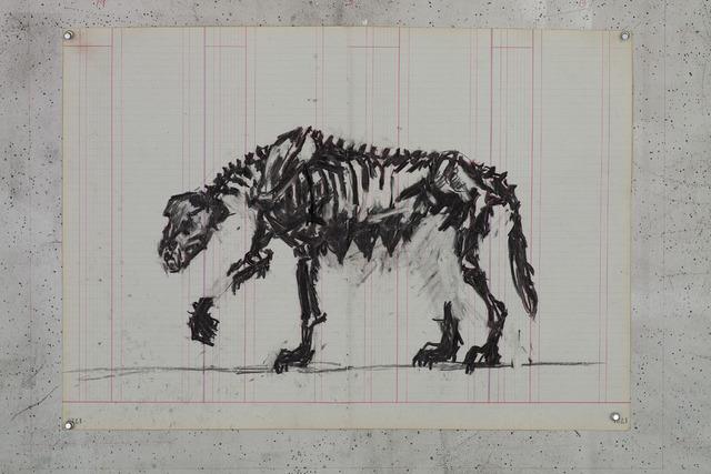 William Kentridge, 'Skeletal She-wolf II', 2015, Lia Rumma