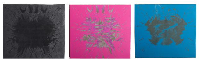 , 'Blot Burn (Triptych) 1,' 2015, LMAKgallery