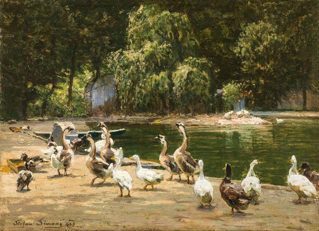 , 'Duck's Pond in Schönbrunn,' 1905, Galerie Kovacek & Zetter