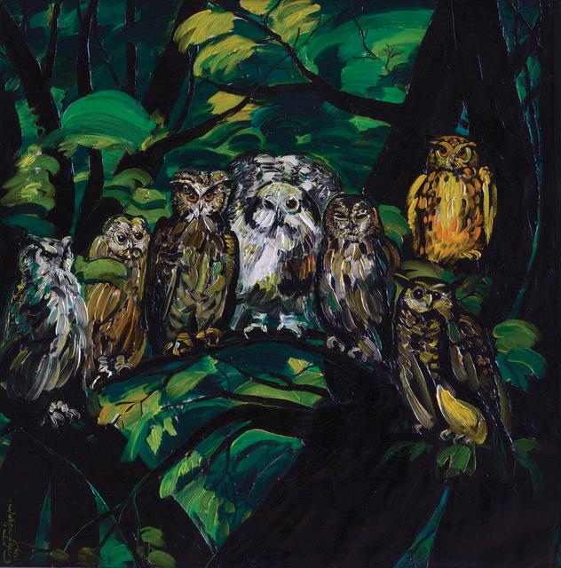 , 'Owls,' 1974, Galerie Kornfeld