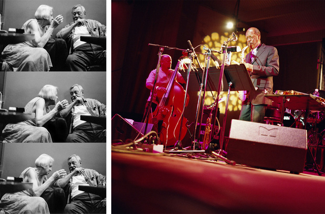 , 'Ornette Coleman. Chicago, December 2008 / Smoking and Talking, Tygmont Jazz Club, Warsaw. August 2009,' 2009, Michel Rein Paris/Brussels