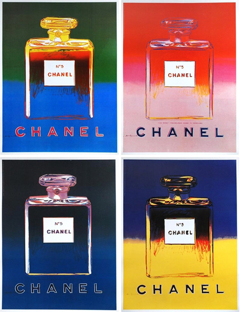 Andy Warhol, 'Chanel No. 5 (set of 4)', 1997, Ephemera or Merchandise, Offset Lithograph with Linen Backing, EHC Fine Art Gallery Auction