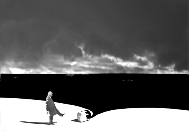 Gilbert Garcin, '436 - Il faut penser aux consequences (We must think about the consequences)', 2012, Lisa Sette Gallery