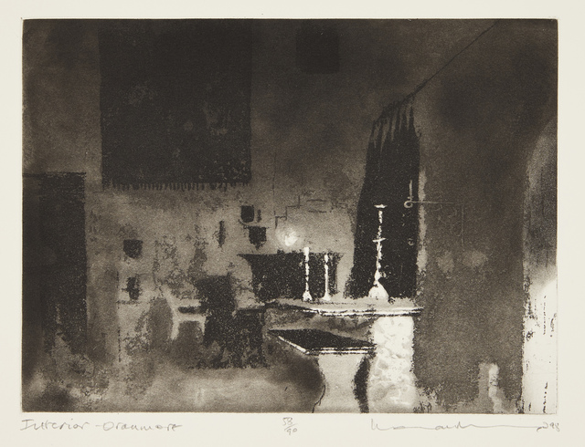 Norman Ackroyd, 'Interior Oranmore', 1998, Print, Etching with aquatint on wove, Roseberys