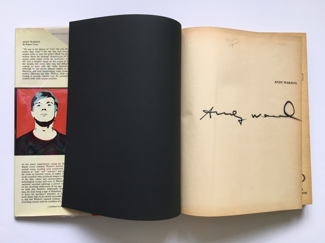 , 'Rainer Crone Catalogue Raisonne Signed by Andy Warhol ,' 1970, Joseph K. Levene Fine Art, Ltd.