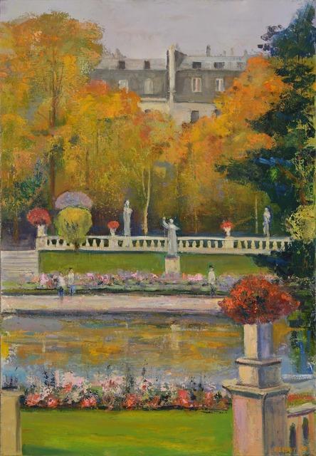 , 'Luxembourg Gardens #2, Diptych,' 2014, Madelyn Jordon Fine Art