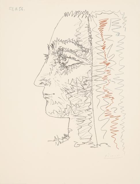 Pablo Picasso, 'Profil en trois couleurs', 1956, Print, Lithograph in colours, Galerie Boisseree
