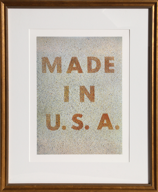 Ed Ruscha, 'America: Her Best Product (Made in USA) from the Kent Bicentennial Portfolio', 1975, Print, Offset Lithograph, RoGallery