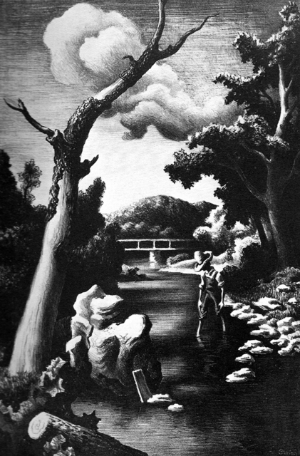 Thomas Hart Benton, 'Shallow Creek', 1939, Kiechel Fine Art