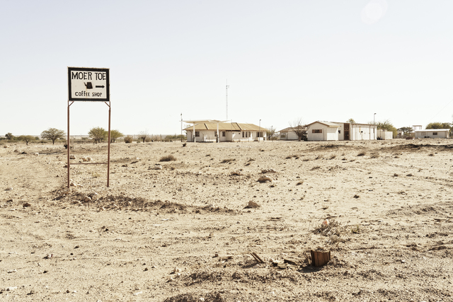 "Margaret Courtney-Clarke, '""Moer toe coffee shop"" Aroab, D614 Kalahari, Namibia', 2019, SMAC"