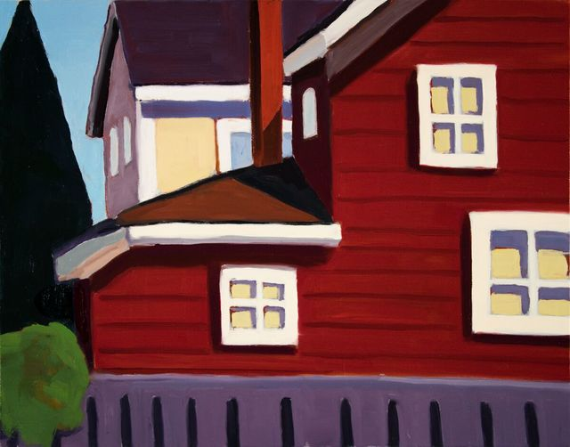 , 'Red House on Guard Street,' 2018, WaterWorks Gallery