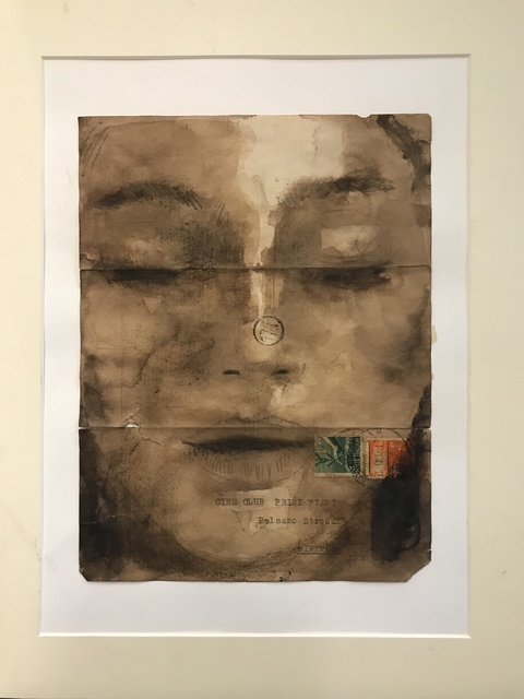 Fabio Imperiale, 'Postales 018', 2016, Drawing, Collage or other Work on Paper, Mixed technique on ancient postal paper, Collezionando Gallery