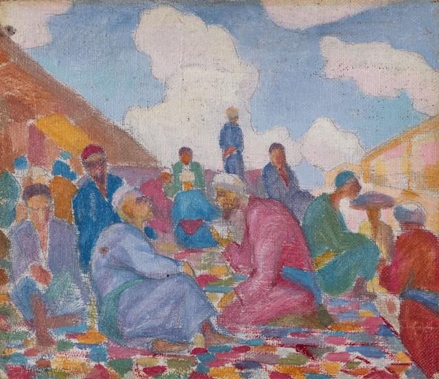 Nikolaj Karahan, 'Conversazione', 1928, Painting, Oil on canvas, Finarte