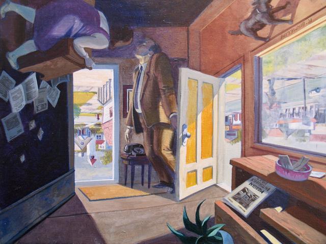 Robert Birmelin, 'The Professor's Dilemma, The Doors Series (Reversible)', 2002, Painting, Acrylic on canvas, Stanek Gallery